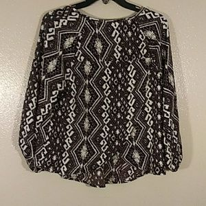 American Eagle Outfitters Tops - American Eagle Outfitters size large boho style bl